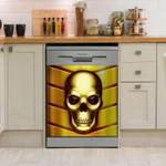 Skull Gold Awesome Pattern Dishwasher Cover Sticker Kitchen Decor