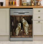 Who Is Watching Owls Dishwasher Cover Sticker Kitchen Decor