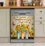 Sunflower Straight To You Dishwasher Cover Sticker Kitchen Decor