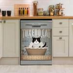 Tuxedo Cat Laundry Wash And Dry Black Cat Dishwasher Cover Sticker Kitchen Decor