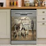 We Built The Life We Loved Llama Dishwasher Cover Sticker Kitchen Decor