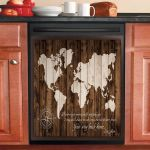 World Map Your Way Back Home Mom Dishwasher Cover Sticker Kitchen Decor