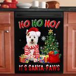 West Highland White Terrier Ho Ho Ho Christmas Santa Paws Dishwasher Cover Sticker Kitchen Decor