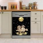Shih Tzu Moonlight Reflection Dishwasher Cover Sticker Kitchen Decor