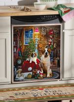 St Bernard Christmas House Dishwasher Cover Sticker Kitchen Decor