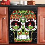 Skull Candle Eyes Dishwasher Cover Sticker Kitchen Decor