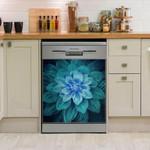 Teal Color Dishwasher Cover Sticker Kitchen Decor
