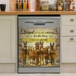 Donkey Blessed Dishwasher Cover Sticker Kitchen Decor