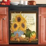 We Have By Our Side That Matters Sunflower And Pumpkin Dishwasher Cover Sticker Kitchen Decor
