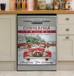 Chihuahua Est Red Truck Dishwasher Cover Sticker Kitchen Decor