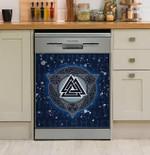 Viking Magic Rune Dishwasher Cover Sticker Kitchen Decor