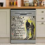 To My Man I Purple You We Will Stay Together Dishwasher Cover Sticker Kitchen Decor