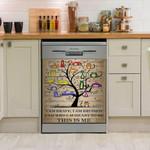 Tree Cat Dishwasher Cover Sticker Kitchen Decor