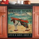 Surfing Club Miniature Horse Dishwasher Cover Sticker Kitchen Decor
