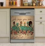 Doctors God Says You Are Dishwasher Cover Sticker Kitchen Decor