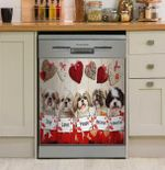 Shih Tzu Joy Love Peace Gift For You Dishwasher Cover Sticker Kitchen Decor
