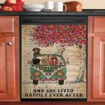 Dictionary She Lived Happily Labrador Retriever Dishwasher Cover Sticker Kitchen Decor