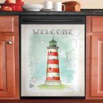 Coastal Lighthouses Dishwasher Cover Sticker Kitchen Decor