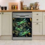 Dragonfly Green Color Dishwasher Cover Sticker Kitchen Decor