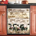 Cow Do What Makes You Happy Dishwasher Cover Sticker Kitchen Decor