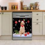 English Setter Christmas Colorful Pattern Dishwasher Cover Sticker Kitchen Decor