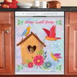 Cute Birdhouse With Birds Dishwasher Cover Sticker Kitchen Decor