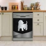 Cockapoo Silver Dishwasher Cover Sticker Kitchen Decor