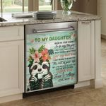 Sloth To My Daughter Pattern Dishwasher Cover Sticker Kitchen Decor