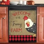 Welcome To The Funny Farm Funny Chicken Dishwasher Cover Sticker Kitchen Decor