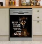 Wolf Never Push A Loyal Person Dishwasher Cover Sticker Kitchen Decor