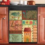 Warmth Of Home Love Dishwasher Cover Sticker Kitchen Decor