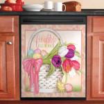 Tulip Friendship Fills The Heart Dishwasher Cover Sticker Kitchen Decor