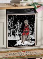 Irish Wolfhound Snowy Night Pattern Dishwasher Cover Sticker Kitchen Decor