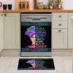 Women Chef Dishwasher Cover Sticker Kitchen Decor
