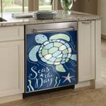 Turtle Sea The Day Dishwasher Cover Sticker Kitchen Decor