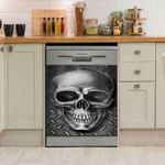 Skull Silver Dishwasher Cover Sticker Kitchen Decor