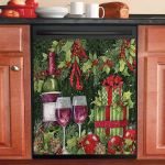 Wine And Gifts Dishwasher Cover Sticker Kitchen Decor