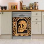 Skull Old Dishwasher Cover Sticker Kitchen Decor