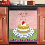 Strawberry Garden Cake Dishwasher Cover Sticker Kitchen Decor