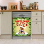 Yorkshire Terrier I Believe In Santa Paws Christmas Dishwasher Cover Sticker Kitchen Decor