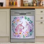 Unicorn Lovers Dishwasher Cover Sticker Kitchen Decor