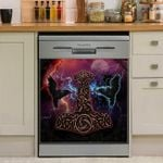 Viking Huggin And Muninn Dishwasher Cover Sticker Kitchen Decor