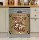Welcome To Our Show Horse Dishwasher Cover Sticker Kitchen Decor