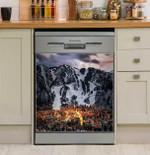 Winter Aspen Lights Dishwasher Cover Sticker Kitchen Decor