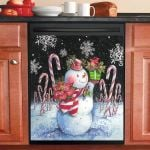 Joy Snowman Christmas Dishwasher Cover Sticker Kitchen Decor