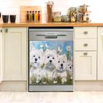 West Highland White Terrier Dishwasher Cover Sticker Kitchen Decor