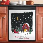 Tree Farm Christmas Memories Dishwasher Cover Sticker Kitchen Decor