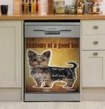 Yorkshire Terrier Anotomy Of A Good Boi Dishwasher Cover Sticker Kitchen Decor