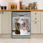 Irish Setter And Snowman Pattern Dishwasher Cover Sticker Kitchen Decor