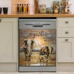 Together We Built A Life We Love Elephant Dishwasher Cover Sticker Kitchen Decor